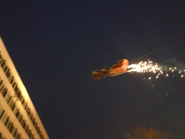 Der fliegende Weihnachtsmann Bochum